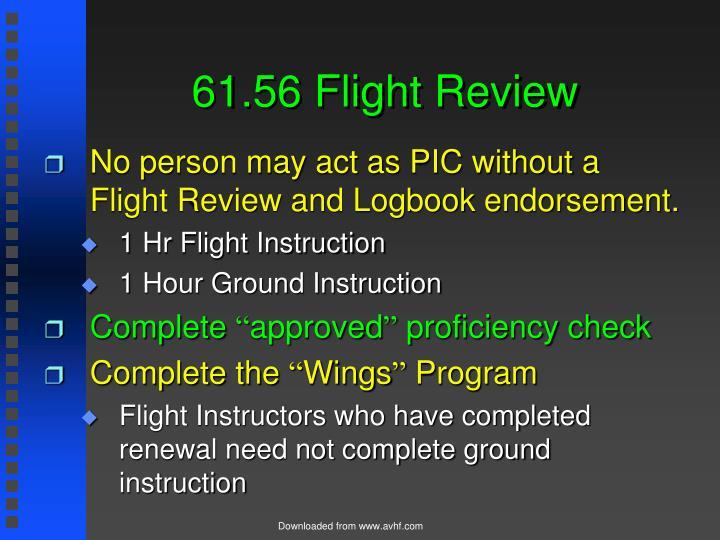 61.56 Flight Review