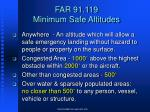 far 91 119 minimum safe altitudes