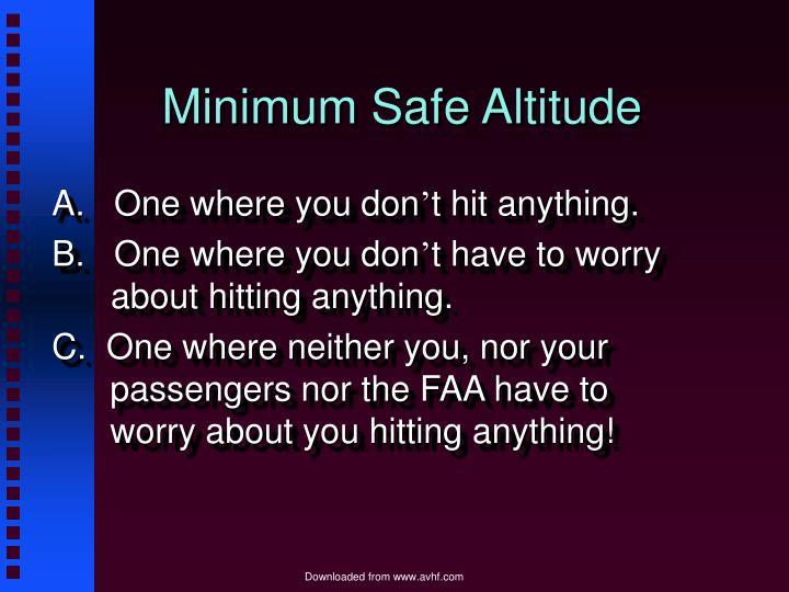 Minimum Safe Altitude