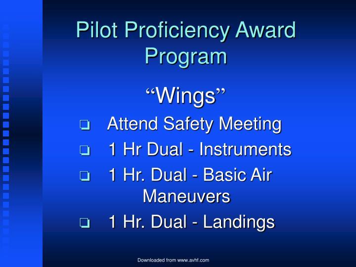 Pilot Proficiency Award Program