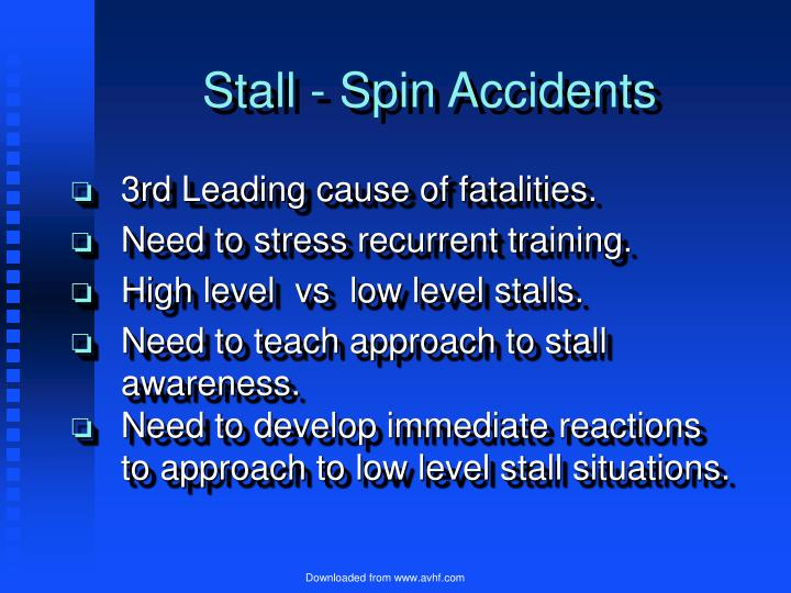 Stall - Spin Accidents