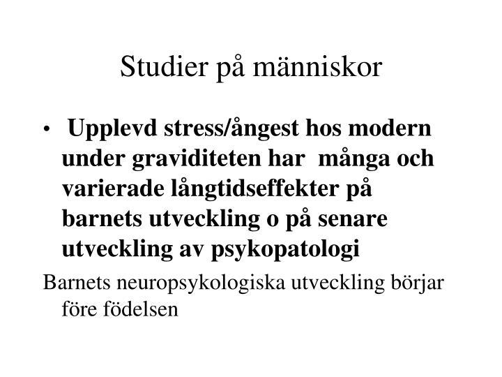 Studier på människor