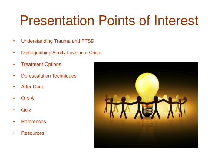 Presentation Points of Interest