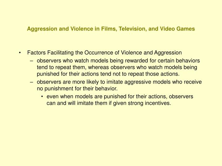 aggression and violence in television Aggression and violent behavior,  (rape, serial rape, child molestation, paraphilias), child and youth violence  reviews of analog investigations of aggression.