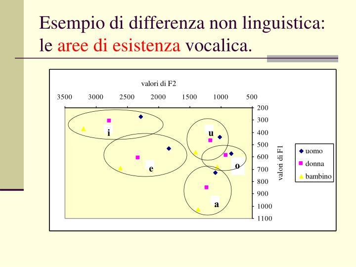 Esempio di differenza non linguistica: le
