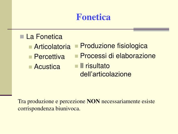 La Fonetica