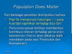 population does matter1