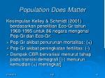 population does matter2