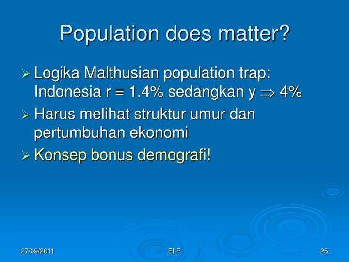 Population does matter?