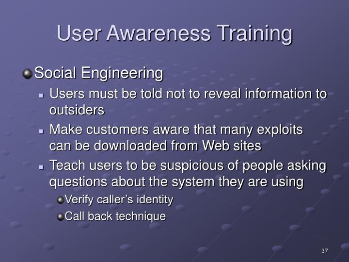 User Awareness Training