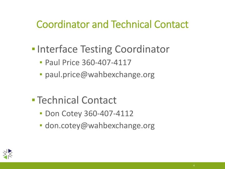 Coordinator and Technical Contact