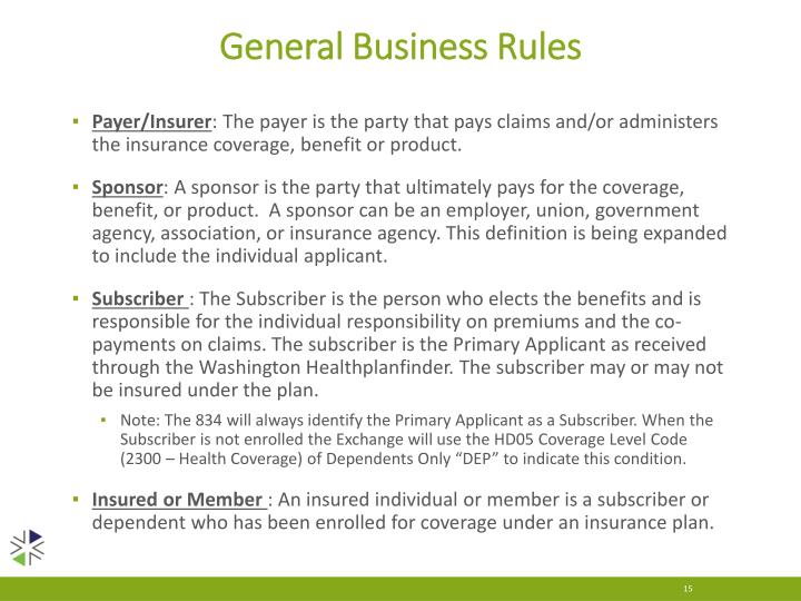 General Business Rules