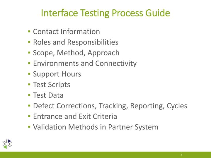 Interface Testing Process Guide
