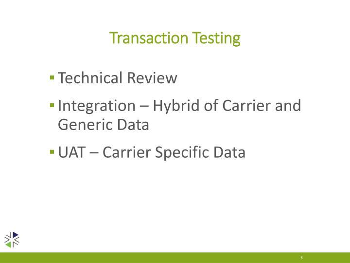 Transaction Testing