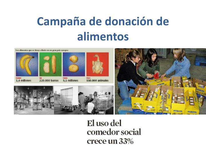 Campaña de donación de alimentos