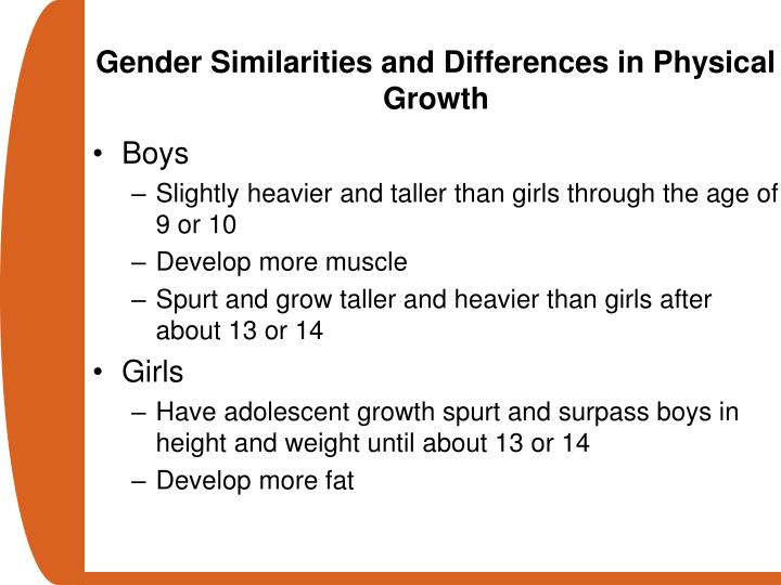 Gender Similarities and Differences in Physical Growth