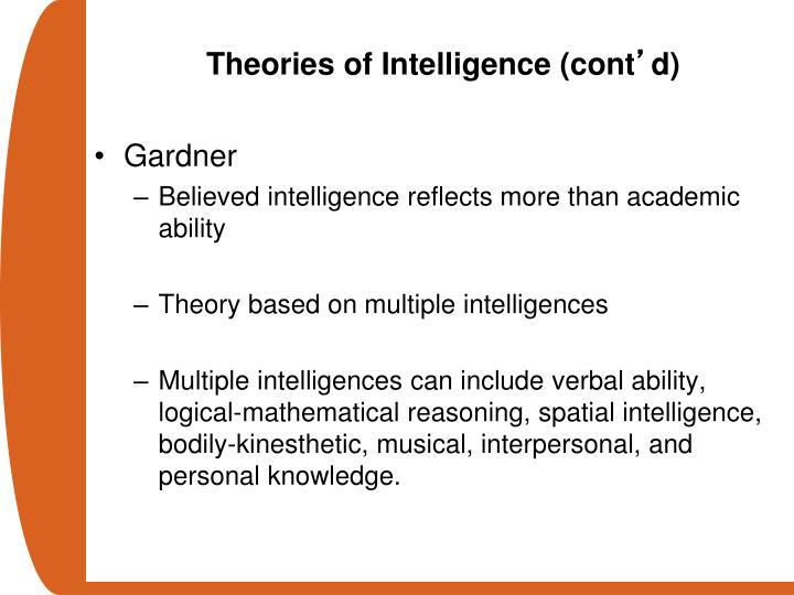 Theories of Intelligence (cont