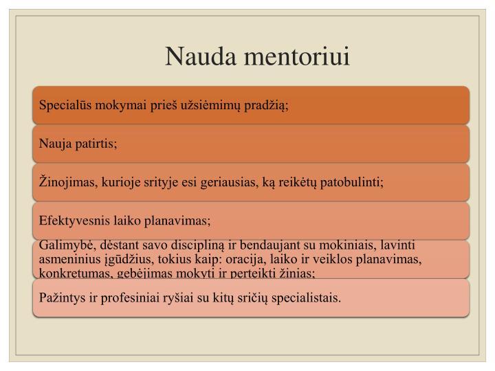 Nauda mentoriui
