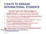 5 ways to engage international students