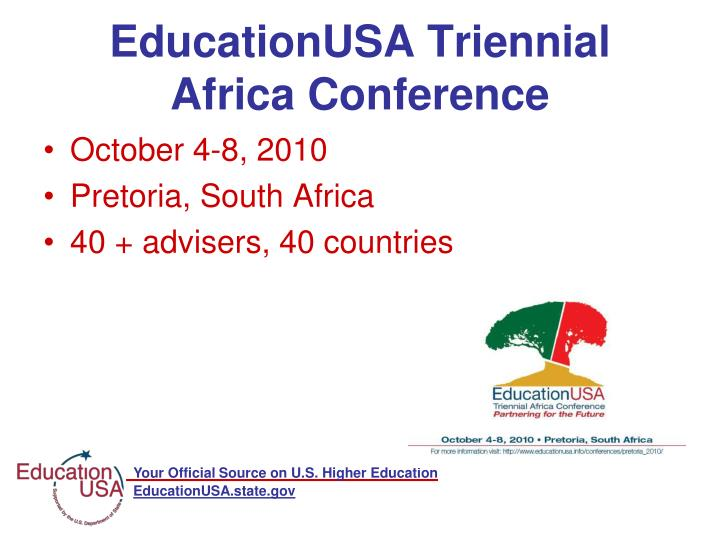 EducationUSA Triennial Africa Conference