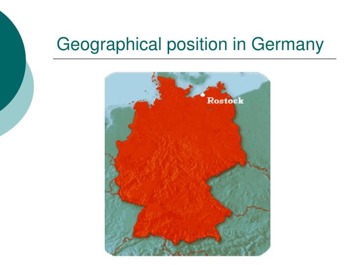 Geographical position in Germany