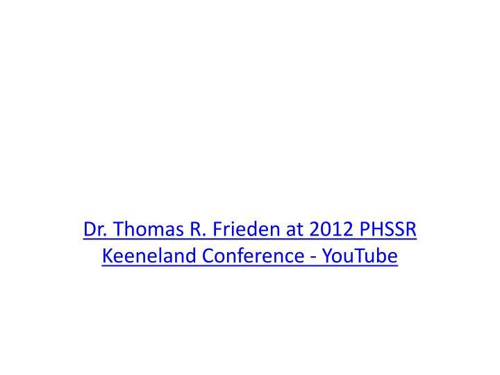 Dr. Thomas R.