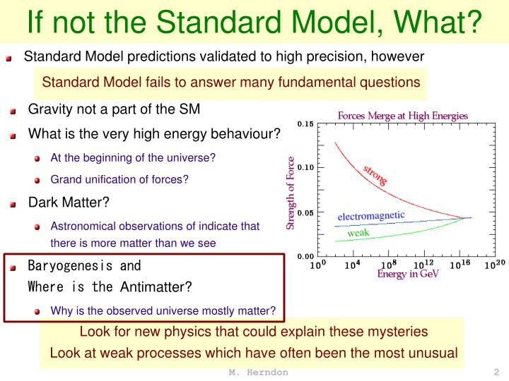 If not the Standard Model, What?