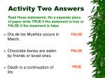 activity two answers