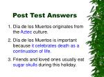 post test answers1