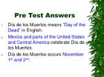 pre test answers