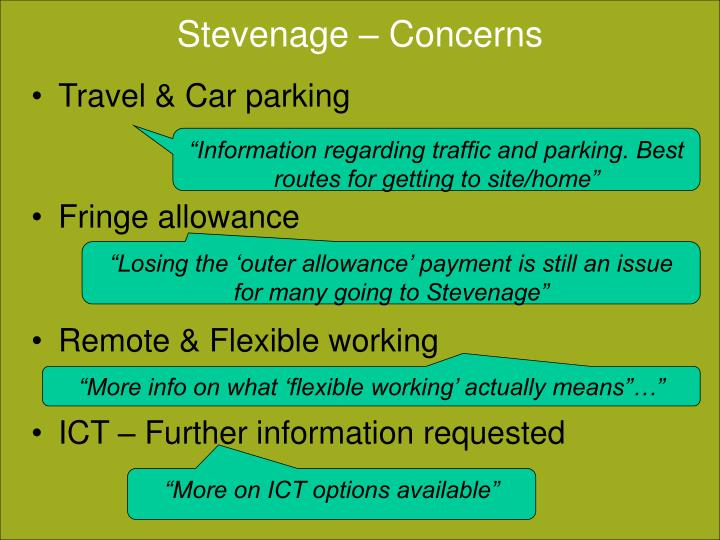 Stevenage – Concerns