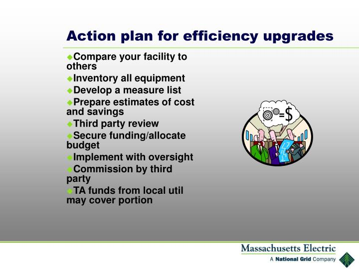 Action plan for efficiency upgrades