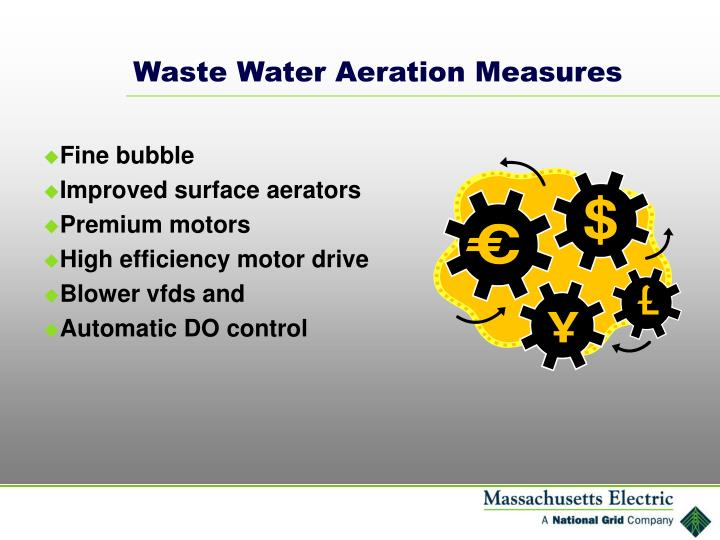 Waste Water Aeration Measures