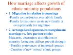 how marriage affects growth of ethnic minority populations