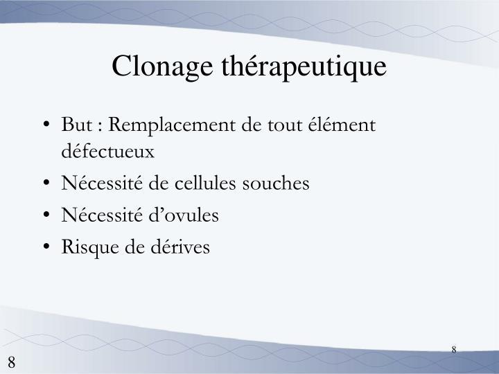 Clonage thérapeutique