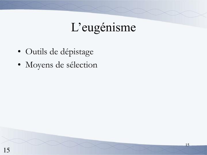 L'eugénisme