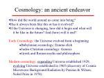 cosmology an ancient endeavor
