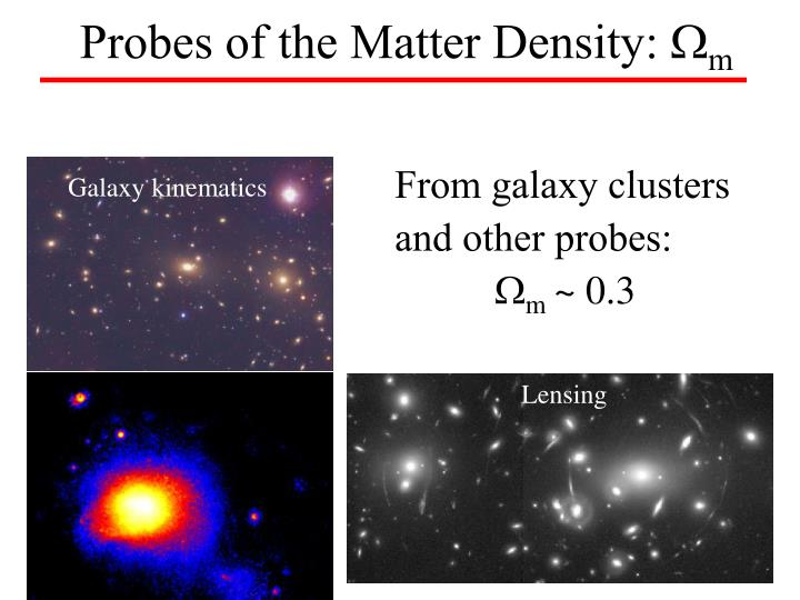 Probes of the Matter Density: