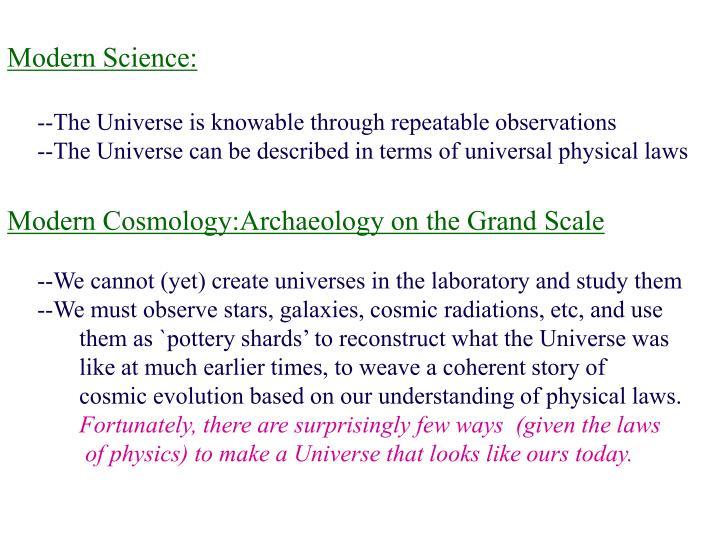 Modern Science: