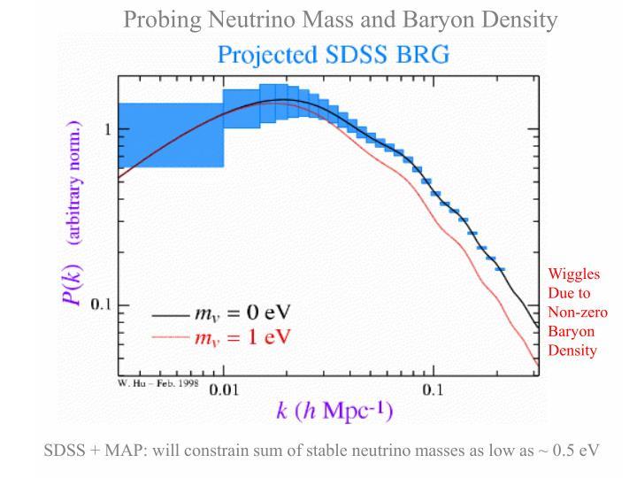 Probing Neutrino Mass and Baryon Density