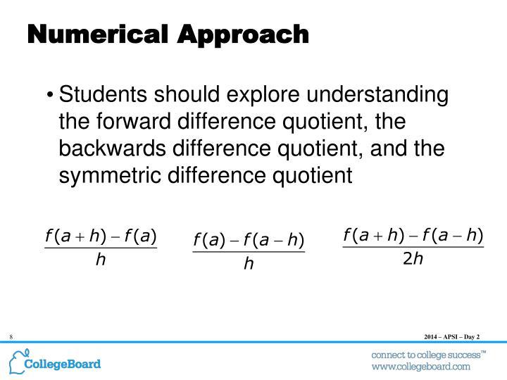 Numerical Approach