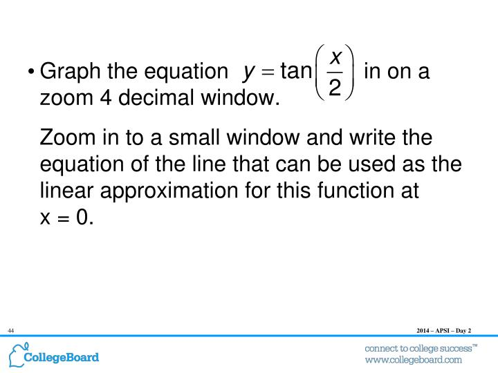 Graph the equation