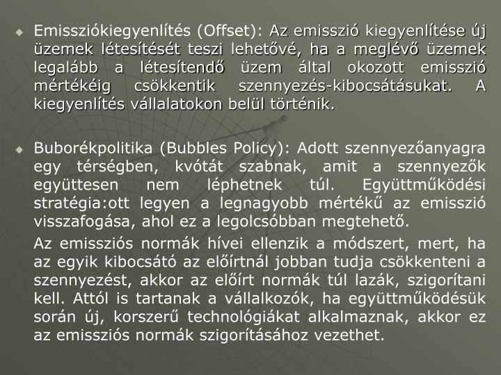 Emissziókiegyenlítés (Offset):