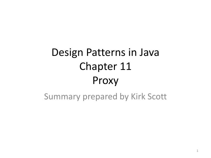 Design patterns in java chapter 11 proxy