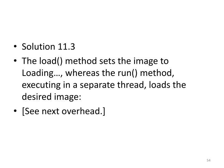 Solution 11.3