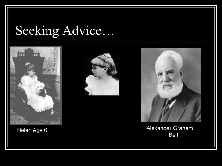 Seeking Advice…