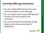 currently offering ecommerce