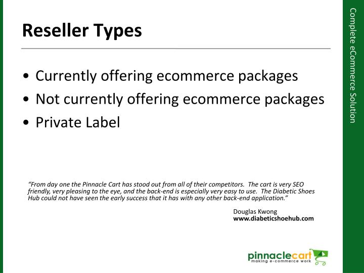 Currently offering ecommerce packages