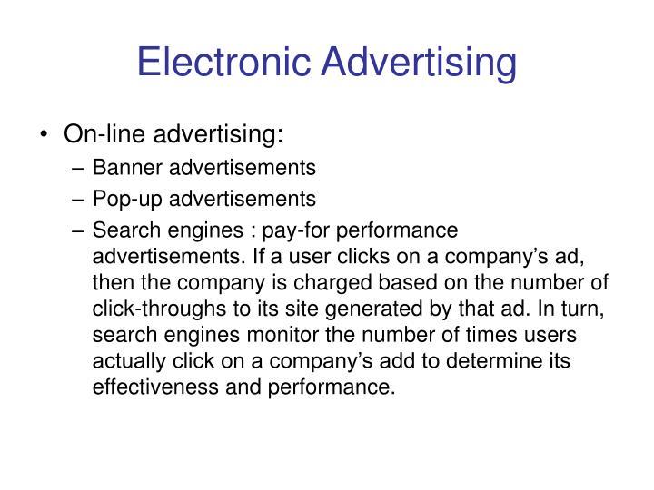 Electronic Advertising