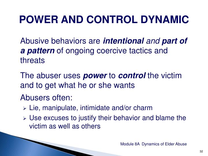 POWER AND CONTROL DYNAMIC